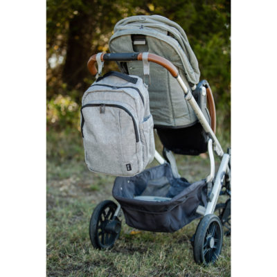 Diaper Bag hanging on stroller